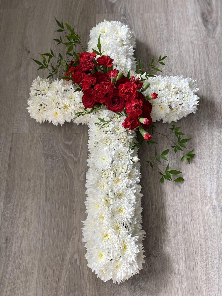 Graceful Blooms Mortdale funeral floral cross